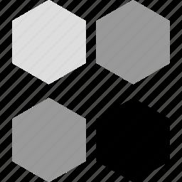 creative, creativity, hex, hexagons icon