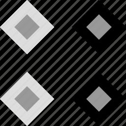 connection, creative, cubes, design icon