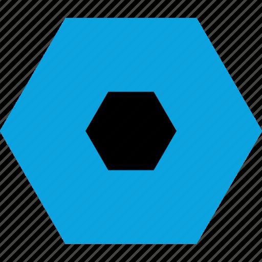 creative, design, graphic, hexagon icon