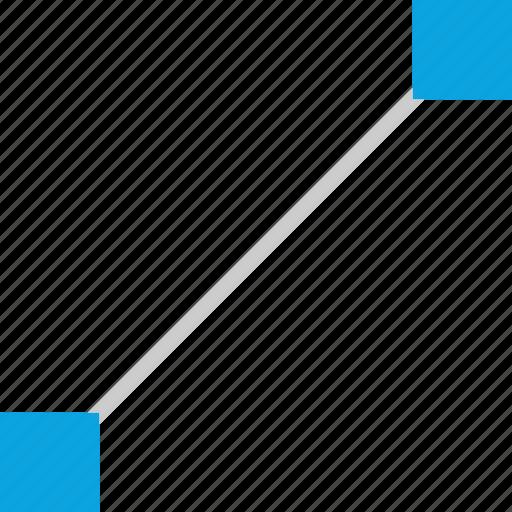 connect, illustrator, line, pen icon