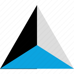 point, pointing, shape, triangle icon