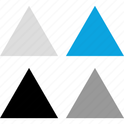 creative, direction, pointing, triangles icon