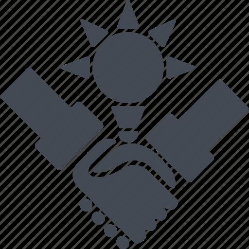 agreement, creativ team, idea icon
