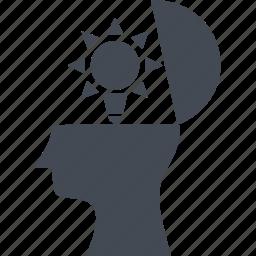 creativ team, head, idea, thinking icon