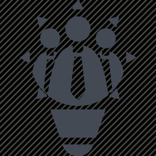 creativ team, discussion, idea, people icon
