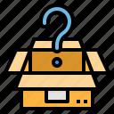 box, question icon