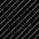 connect, creative, idea, light bulb, link icon