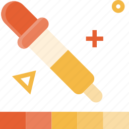 color, dropper, graphic, picker, pipette, tool icon