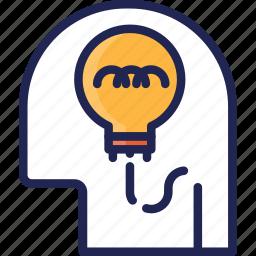 creative, head, idea, mind, think, thinking icon