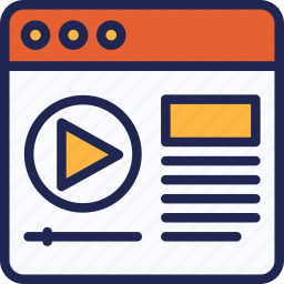 creative, design, internet, marketing, page, video, web icon