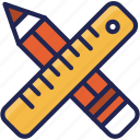 creative, pencil, ruler, tool icon