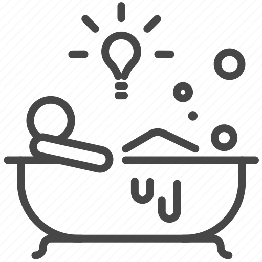 bathing, creative, creativity, idea, innovation, relax icon