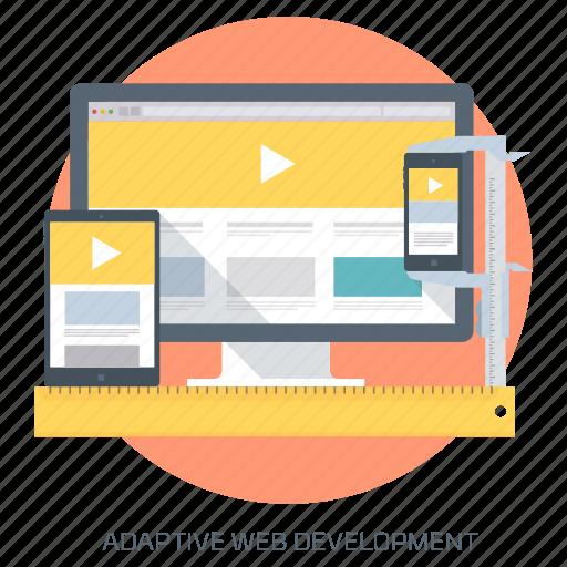adaptive, graphics design, responsive, ui, ux, web design icon