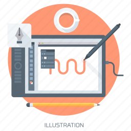 art, create, draw, graphics design, illustration, tablet icon