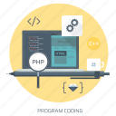 clean code, coder, coding, computer, css, program, web design icon