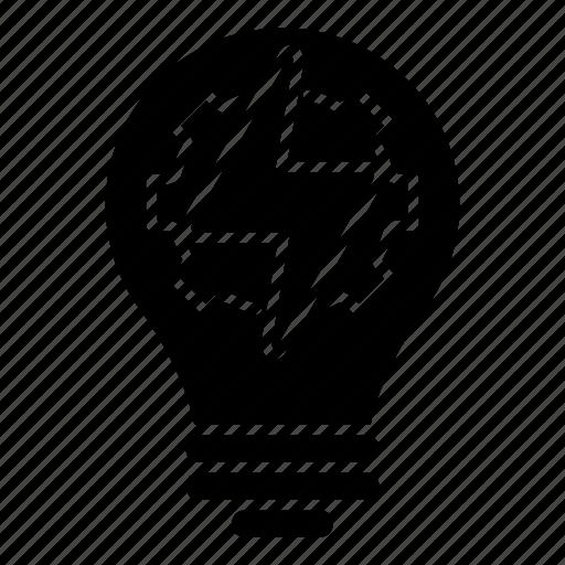 creativity, fast, gear, idea, intelligence, knowledge, light icon