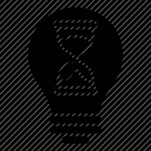 business, creativity, glass, hour, idea, intelligence, knowledge icon