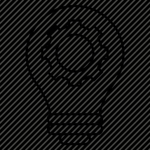 creativity, development, gear, idea, knowledge, mechanic icon