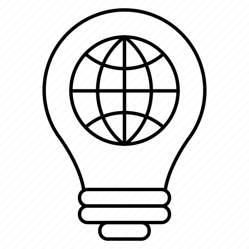 business, creativity, globe, idea, intelligence, knowledge icon