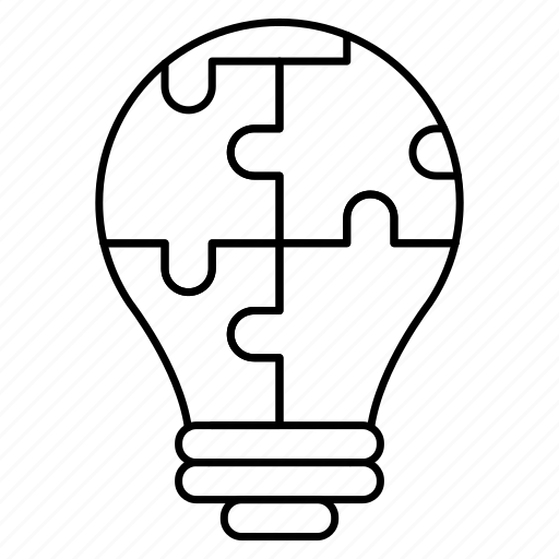 creativity, idea, intelligence, knowledge, puzzles, science icon