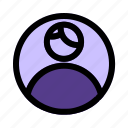 account, admin, person, profile, user icon