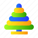 baby, lego, ring, stack icon