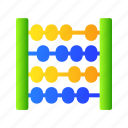 abacus, baby, kids, toy icon