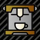 cafe, coffee, espresso, machine icon