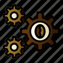 coffee, gear, setting, tool icon