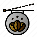 cafe, coffee, shop, signboard icon