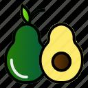 avocado, food, fruit, healthy icon