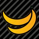 banana, food, fruit, healthy