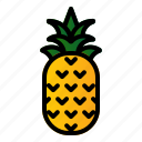 food, fruit, healthy, pineapple icon