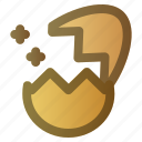 cracked, easter, egg, hatch, spring icon