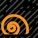 mollusc, slow, slug, snail, spring icon