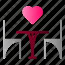 chair, date, dinner, love