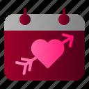 calendar, honeymoon, love, wedding