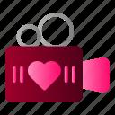 camera, movie, video, wedding icon