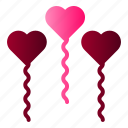 ballon, heart, love, wedding icon