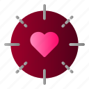 heart, love, married, target