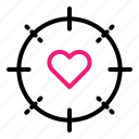 heart, love, married, target icon