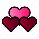 hearth, linked, married, wedding icon