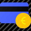 bank, card, credit, euro