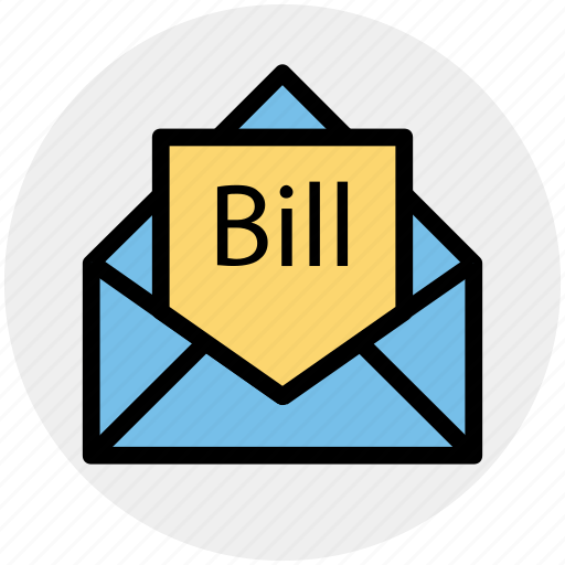 Bill email, bill in letter, email, invoice, letter, letter envelope, message icon - Download on Iconfinder
