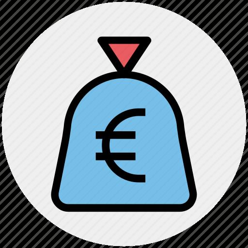 cash, cash bag, euro, money, pay, payment, sack of money icon