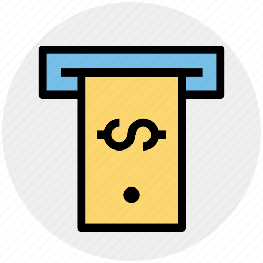 atm, banking, cash, dollar, money, payment, withdrawal icon