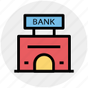 bank, bank building, building, business, finance icon