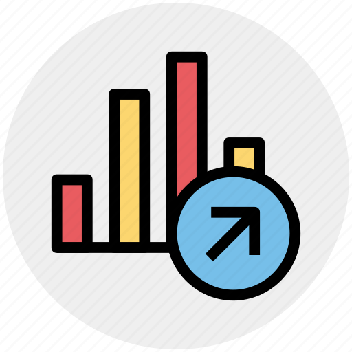 bar, chart, diagram, graph up, pie chart, up icon
