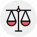 balance, court, justice, law, scales icon