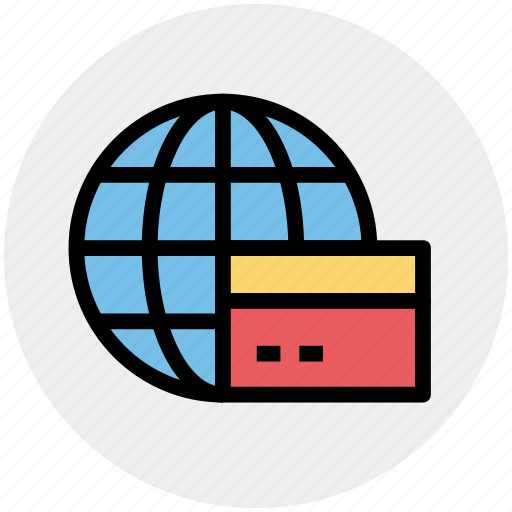 cash, credit card, payment, travel, visa, world, worldwide icon
